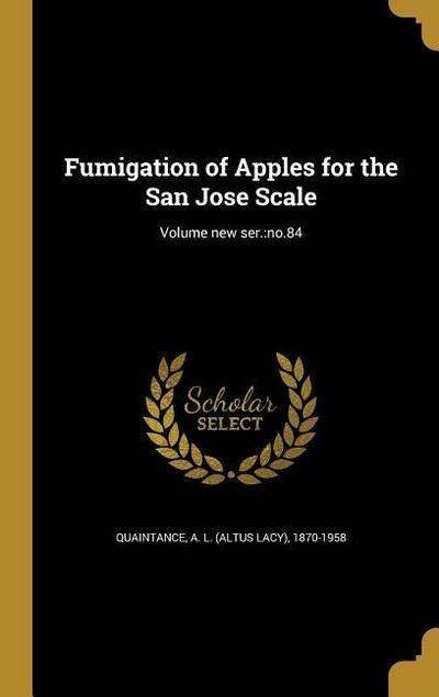 FUMIGATION OF APPLES FOR THE S