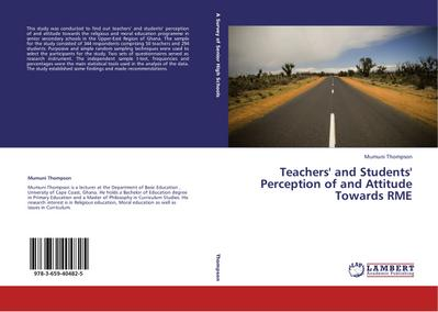 Teachers' and Students' Perception of and Attitude Towards RME