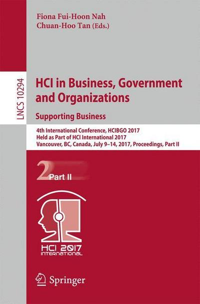 HCI in Business, Government and Organizations. Supporting Business