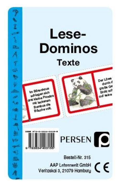 Lese-Dominos / Texte Angelika Lange