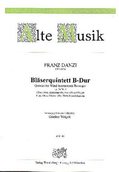 Quintett B-Dur op.56,1 :für Flöte, Oboe, Klarinette, Horn und Fagott