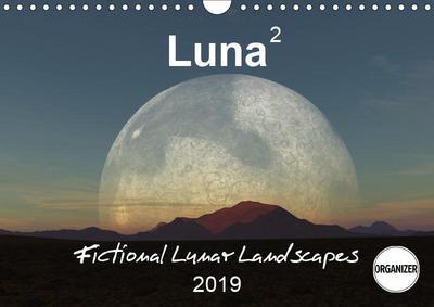 Luna 2 - fictional lunar landscapes (Wall Calendar 2019 DIN A4 Landscape)