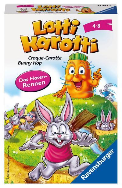 Ravensburger 23393 - Lotti Karotti - Kinderspiel/ Reisespiel - Ravensburger Spielverlag - Spielzeug, Französisch| Deutsch| Italienisch, Ian Steven, Mitbringspiele - Croque-Carotte - Banny Hop / Das Hasen-Rennen, Mitbringspiele - Croque-Carotte - Banny Hop / Das Hasen-Rennen