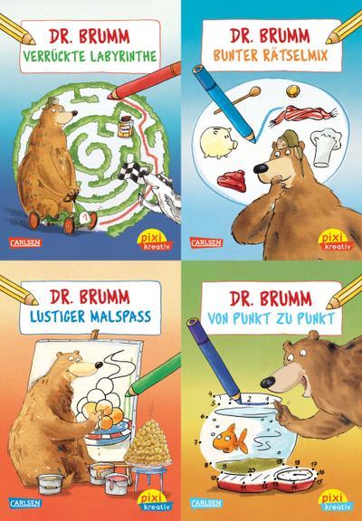 Pixi kreativ Serie Nr. 11: Malen und Rätseln mit Dr. Brumm. 4 x 7 Exemplare