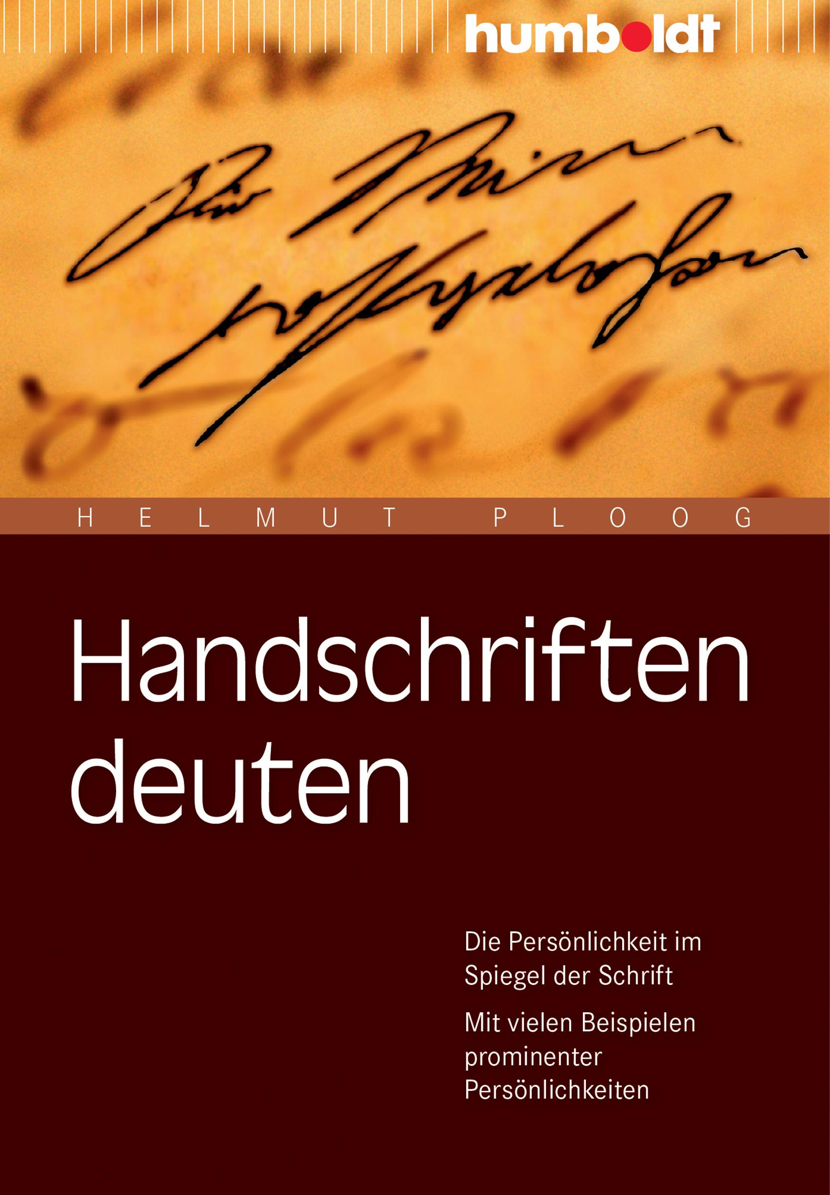 Handschriften deuten Helmut Ploog