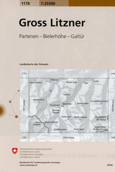 Swisstopo 1 : 25 000 Gross Litzner