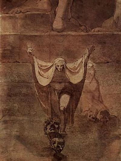 Johann Heinrich Füssli - Dante und Virgil auf dem Eis des Kozythus - 200 Teile (Puzzle)