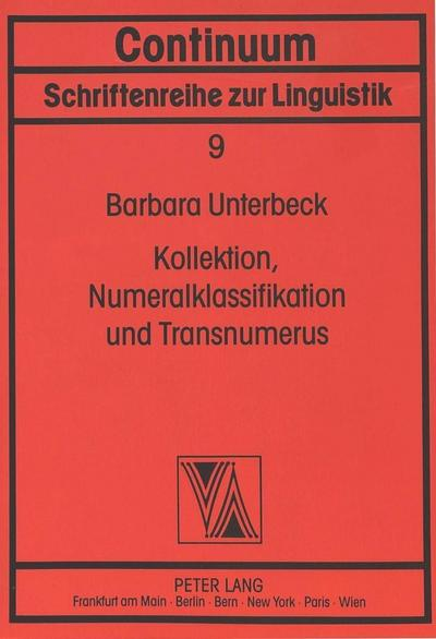 Kollektion, Numerialklassifikation und Transnumerus