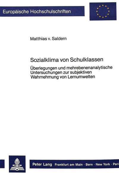 Sozialklima von Schulklassen