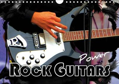Rock Guitars Power (Wall Calendar 2019 DIN A4 Landscape)