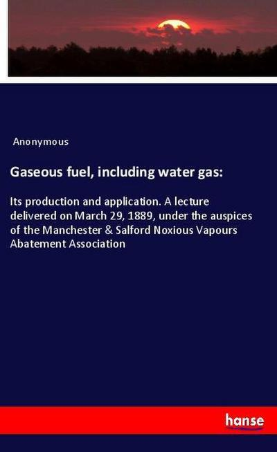 Gaseous fuel, including water gas: