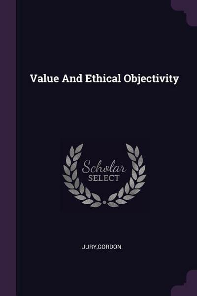 Value and Ethical Objectivity