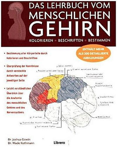 DAS LEHRBUCH VOM MENSCHLICHEN GEHIRN: Ein Einblick in Gehirn und Nervensystem des Menschen: KOLORIEREN / BESCHRIFTEN / BESTIMMEN / ENTHÄLT MEHR ALS 200 DETAILLIERTE ABBILDUNGEN