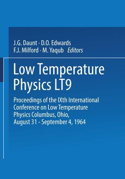 Low Temperature Physics LT9