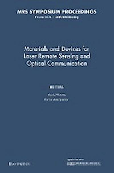 Materials and Devices for Laser Remote Sensing and Optical Communication: Volume 1076