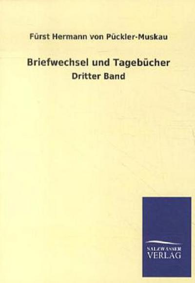 Briefwechsel: Dritter Band