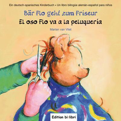 Bär Flo geht zum Friseur. El oso Flo va a la peluquería