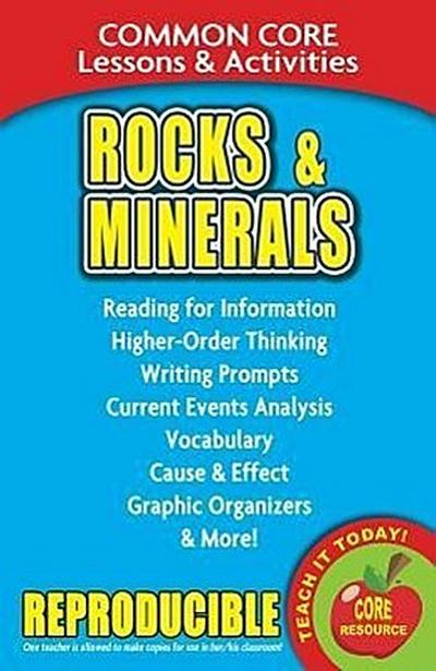 Rocks & Minerals: Common Core Lessons & Activities