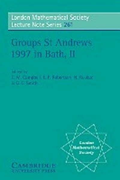 Groups St Andrews 1997 in Bath: Volume 2