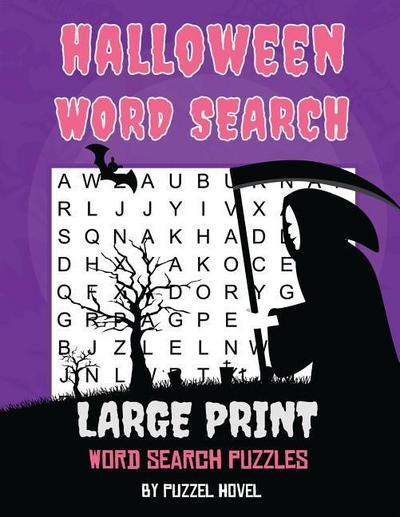 Halloween Word Search: Large Print Word Search Puzzles