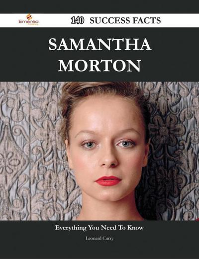 Samantha Morton 140 Success Facts - Everything you need to know about Samantha Morton