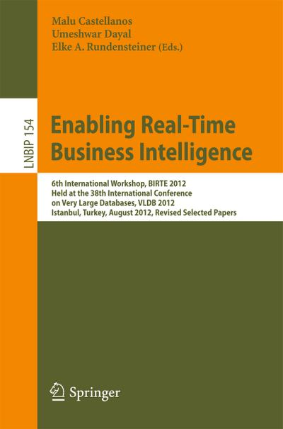 Enabling Real-Time Business Intelligence
