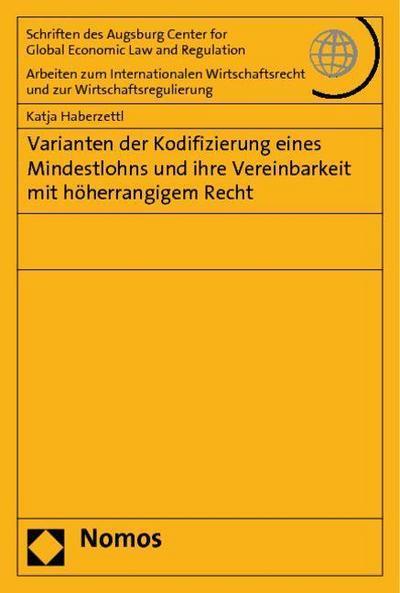 Varianten der Kodifizierung eines Mindestlohns und ihre Vereinbarkeit mit höherrangigem Recht