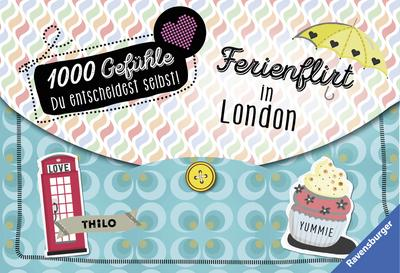 1000 Gefühle, Band 8: Ferienflirt in London; RTB – 1000 Gefühle; Ill. v. Liepins, Carolin; Deutsch; schw.-w. Ill.