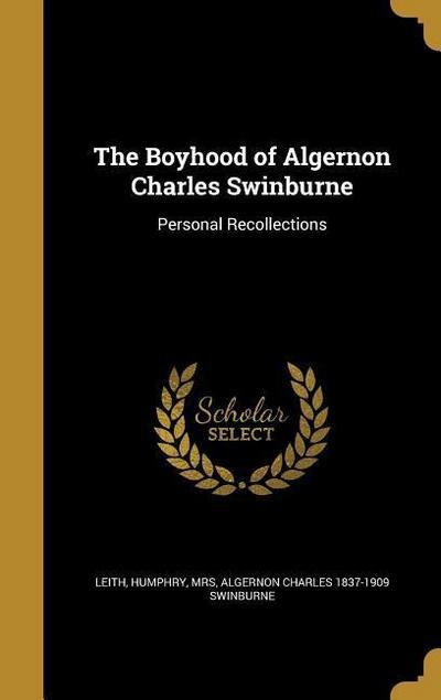 BOYHOOD OF ALGERNON CHARLES SW