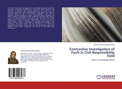 Contrastive Investigation of Fault in Civil Responsibility Field