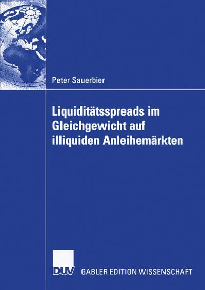 Liquiditätsspreads im Gleichgewicht auf illiquiden Anleihemärkten