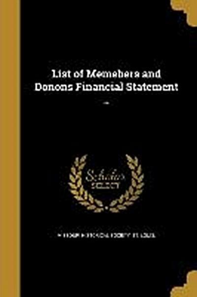 LIST OF MEMEBERS & DONONS FINA