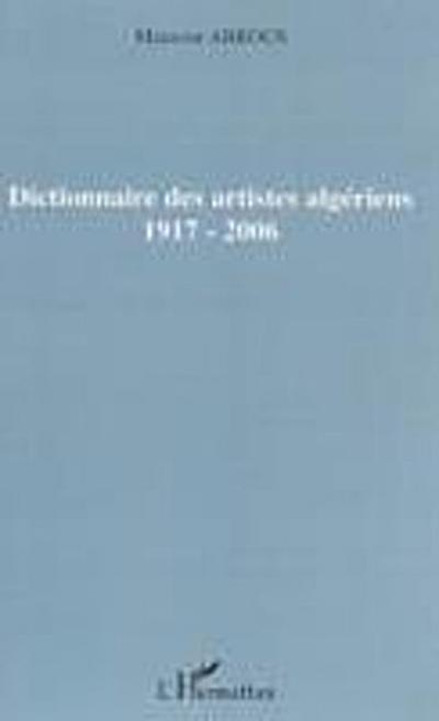 Dictionnaire des artistes algeriens