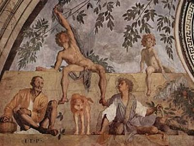 Jacopo Pontormo - linker Teil der Lünette, Vertumnus und Pomona - 200 Teile (Puzzle)