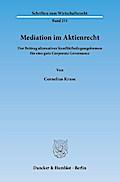 Mediation im Aktienrecht