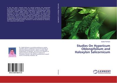 Studies On Hypericum Oblongifolium and Haloxylon Salicornicum