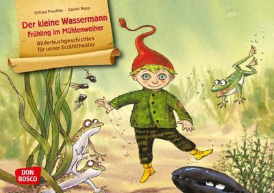 Der kleine Wassermann - Frühling im Mühlenweiher. Kamishibai Bildkartenset.