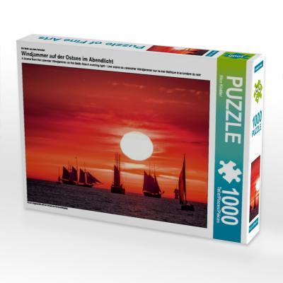 Ein Motiv aus dem Kalender Windjammer auf der Ostsee im Abendlicht (Puzzle)