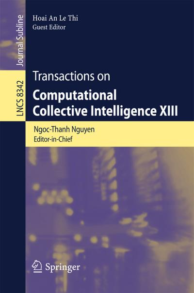 Transactions on Computational Collective Intelligence XIII