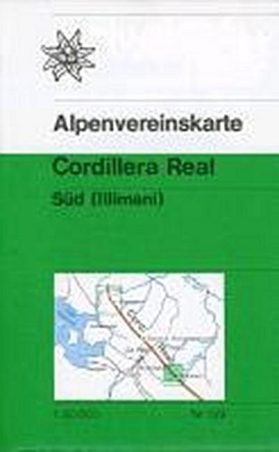 DAV Karte 0/9 Cordillera Real Süd (Illimani - Bolivien) 1 : 50 000: Trekkingkarte