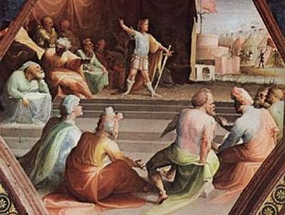 Domenico Beccafumi - Scipio widmet den Tribunen seine Soldaten - 100 Teile (Puzzle)