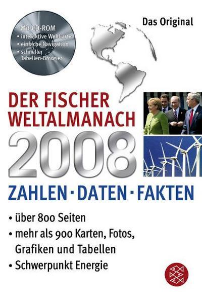 Der Fischer Weltalmanach 2008 mit CD-ROM: Zahlen Daten Fakten - Fischer Taschenbuch - Taschenbuch, Deutsch, , Zahlen Daten Fakten, Zahlen Daten Fakten