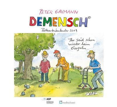 Demensch. Postkartenkalender 2019 - Medhochzwei Verlag - Kalender, Deutsch, Peter Gaymann,Thomas Klie, ,