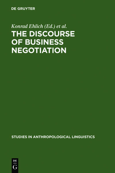 The Discourse of Business Negotiation