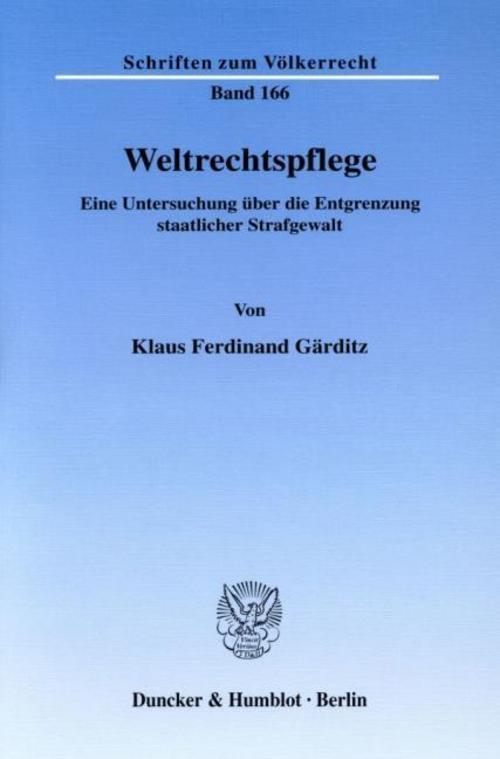 Weltrechtspflege Klaus Ferdinand Gärditz