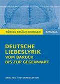 Deutsche Liebeslyrik vom Barock bis zur Gegenwart