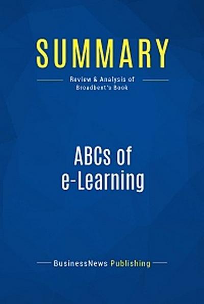 Summary: ABCs of e-Learning