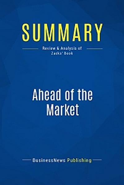 Summary: Ahead of the Market