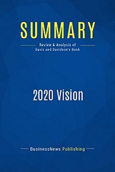 Summary: 2020 Vision