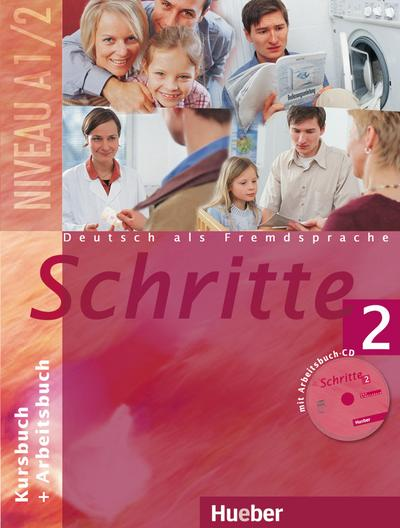 Schritte 2: Deutsch als Fremdsprache / Kursbuch + Arbeitsbuch mit Audio-CD zum Arbeitsbuch
